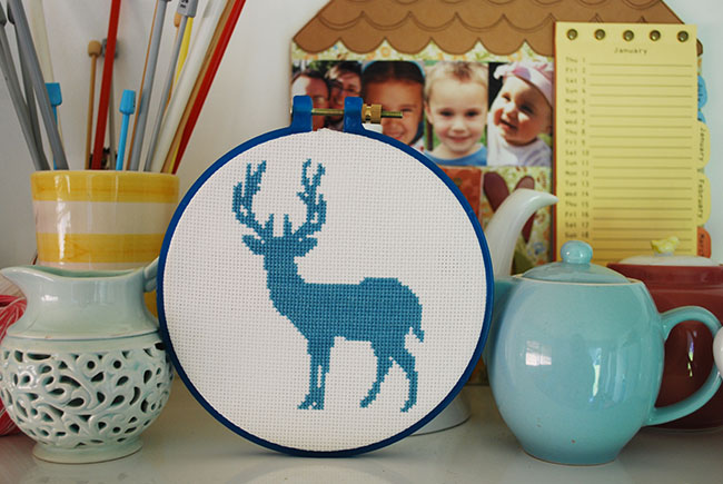 free cross stitch pattern deer